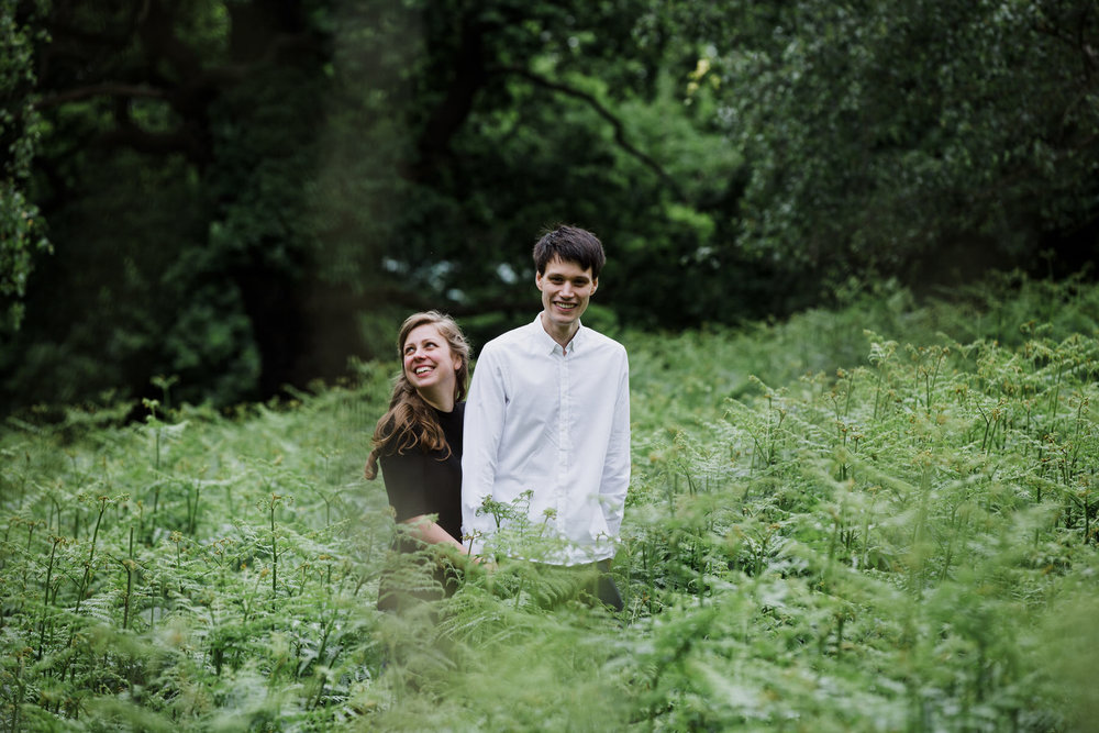 Romantic London natural couple portrait photographer giant fern_.jpg
