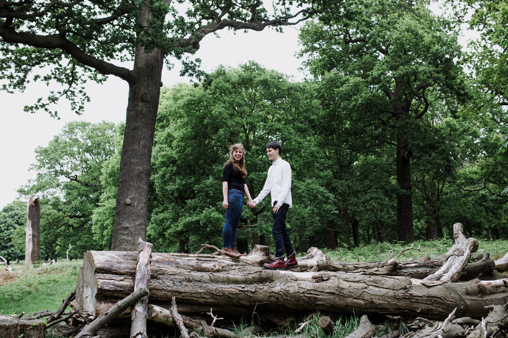23-romantic London forest engagement shoot.jpg