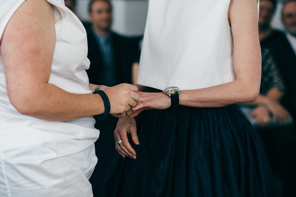 CV-214 two brides holding hands Leeds reportage wedding.jpg
