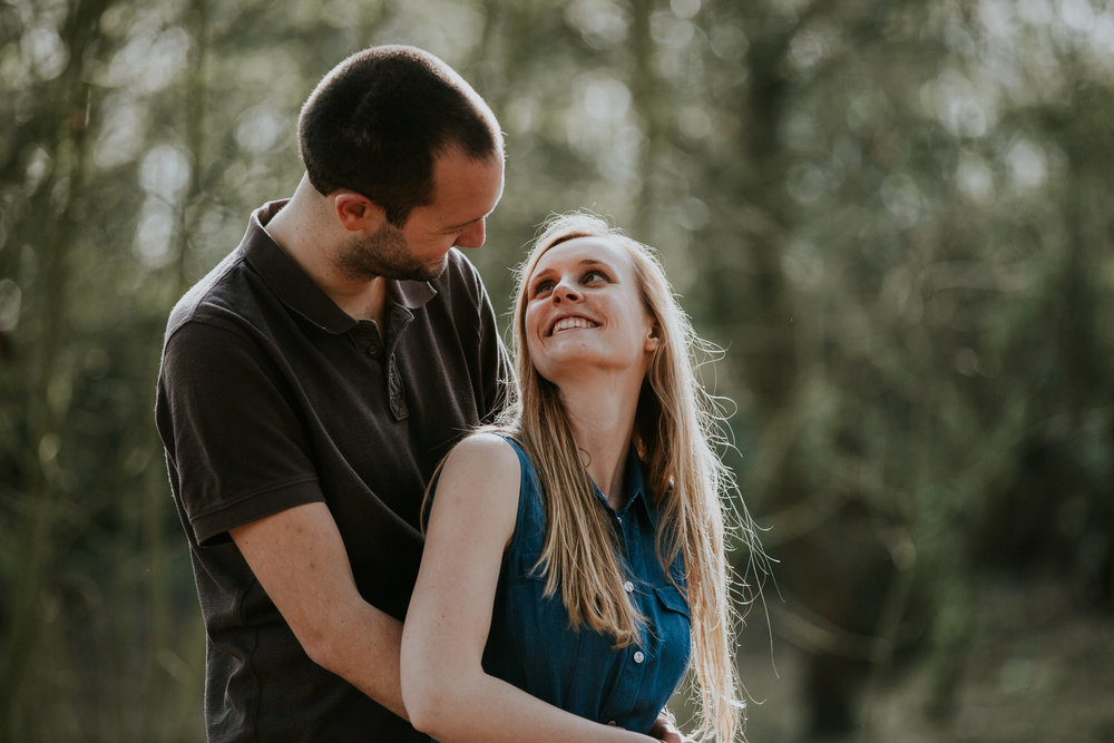 7-romantic couple during forest engagement shoot Richmond.jpg