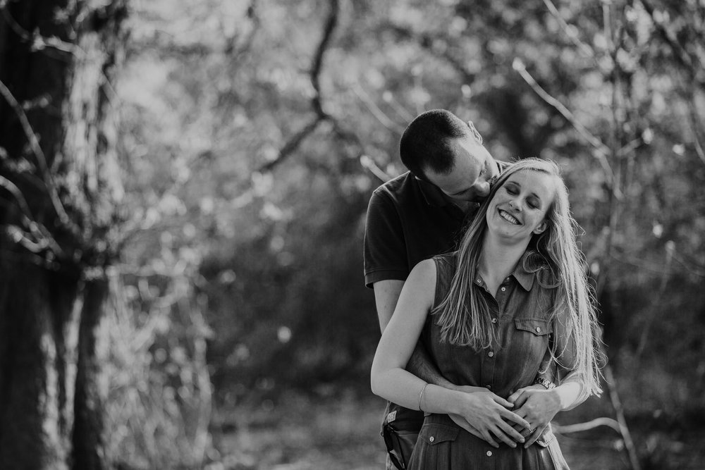 8-romantic couple during forest engagement shoot Richmond.jpg
