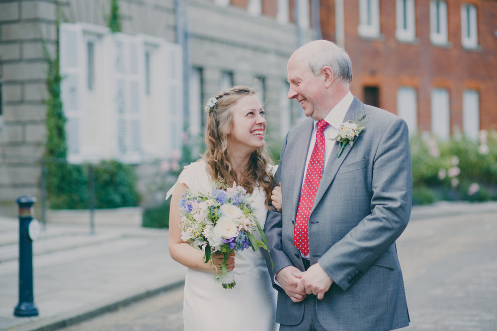 3 bride with father outside York House .jpg