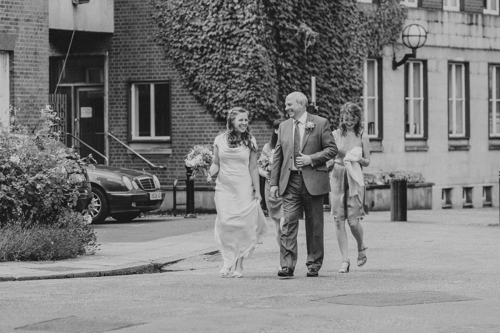 1 bride with father outside York House .jpg