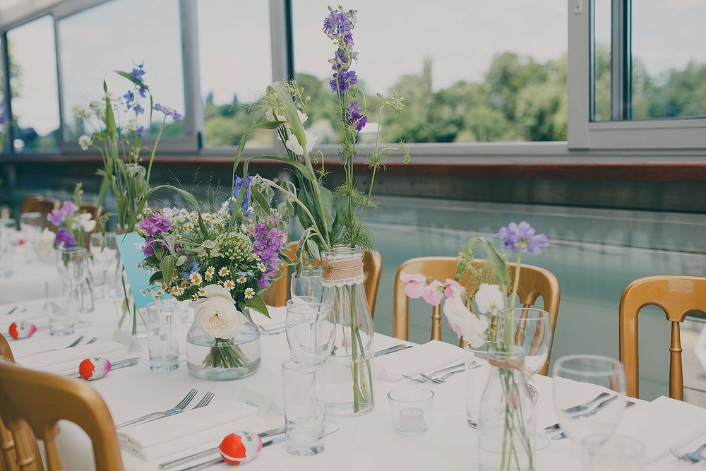 48 wildflower posies at The wharf Teddington wedding.jpg