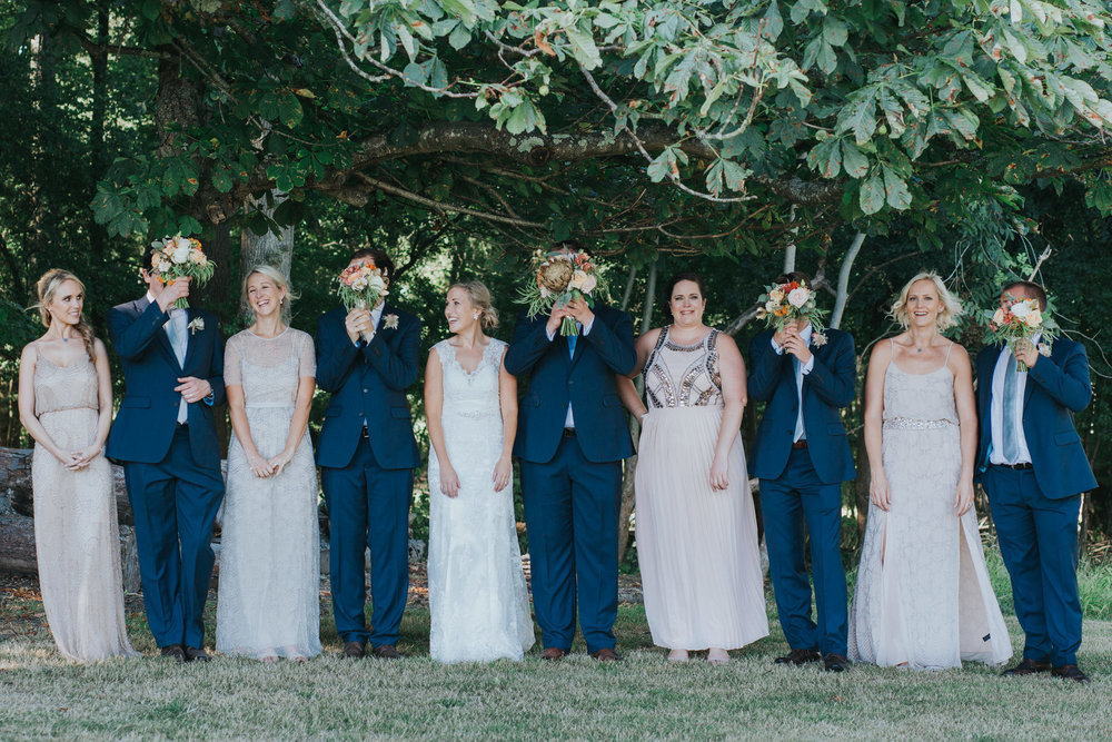 199 bridal party portrait Knepp Castle bridesmaid in blush mismatched Needle and Threads dresses.jpg
