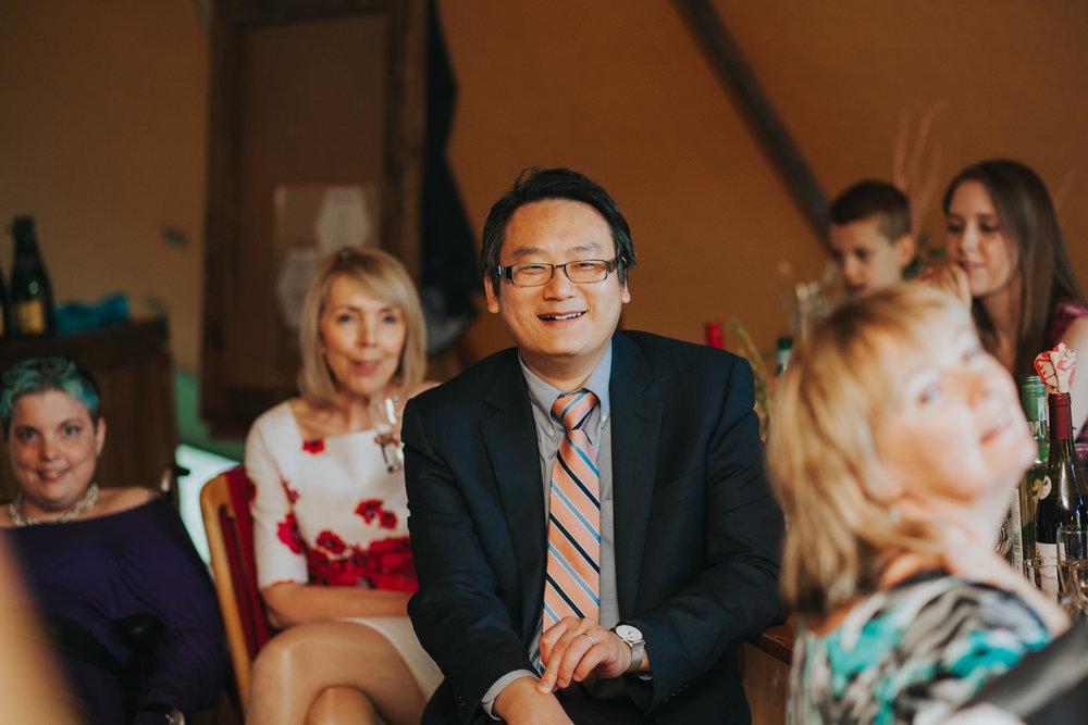 271 guest reactions speeches Knepp Castle documentary wedding photographer.jpg