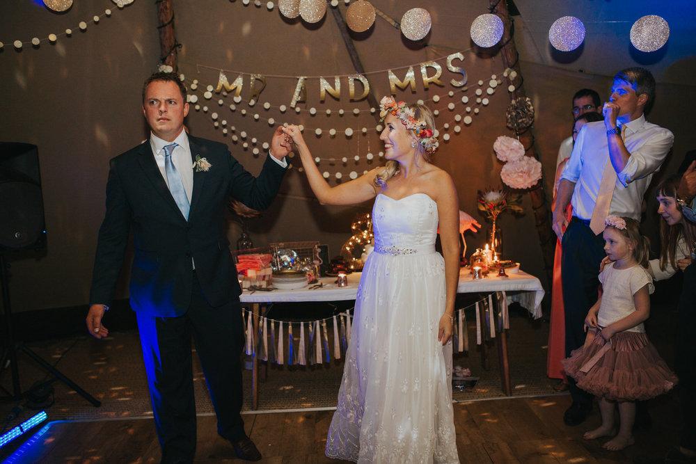 344 newly married bride groom first dance tipi wedding Knepp Castle.jpg