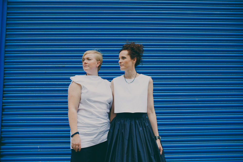Two brides blue metal gay friendly photographer London.jpg