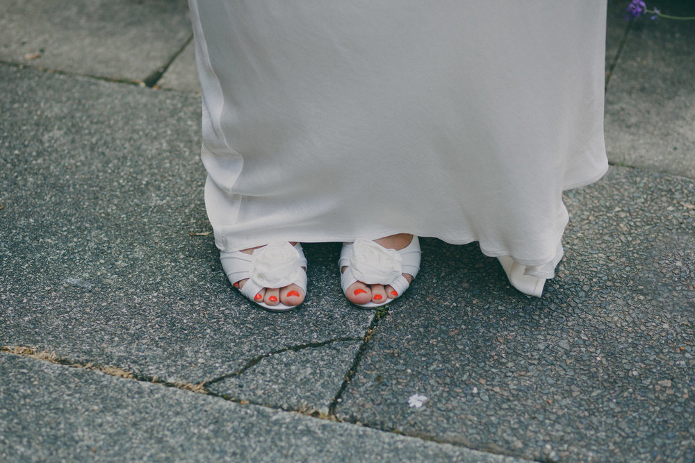 Bride sandals Ghost wedding dress foot crop shot.jpg