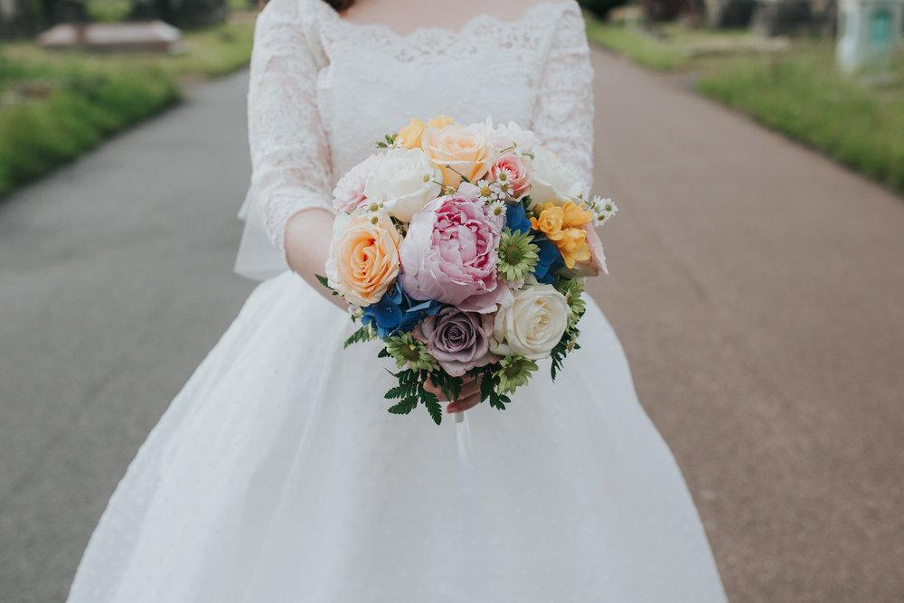 bride bouquet pink peonie dusky pink rose Brompton Cemetery.jpg