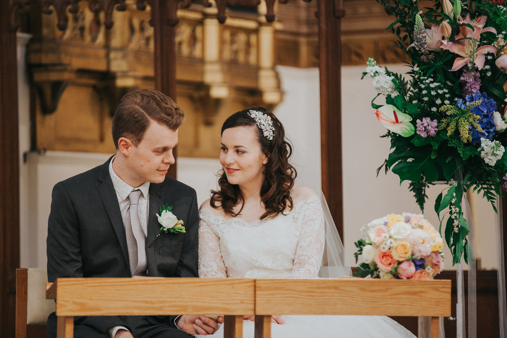 bride groom Fulham Catholic Church wedding ceremony.jpg
