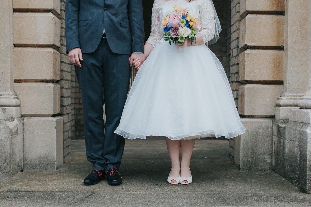 cropped feet bridal wedding portraits Brompton Cemetery.jpg