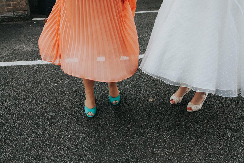 bride bridesmaid wedding photographers quirky shoe shot.jpg