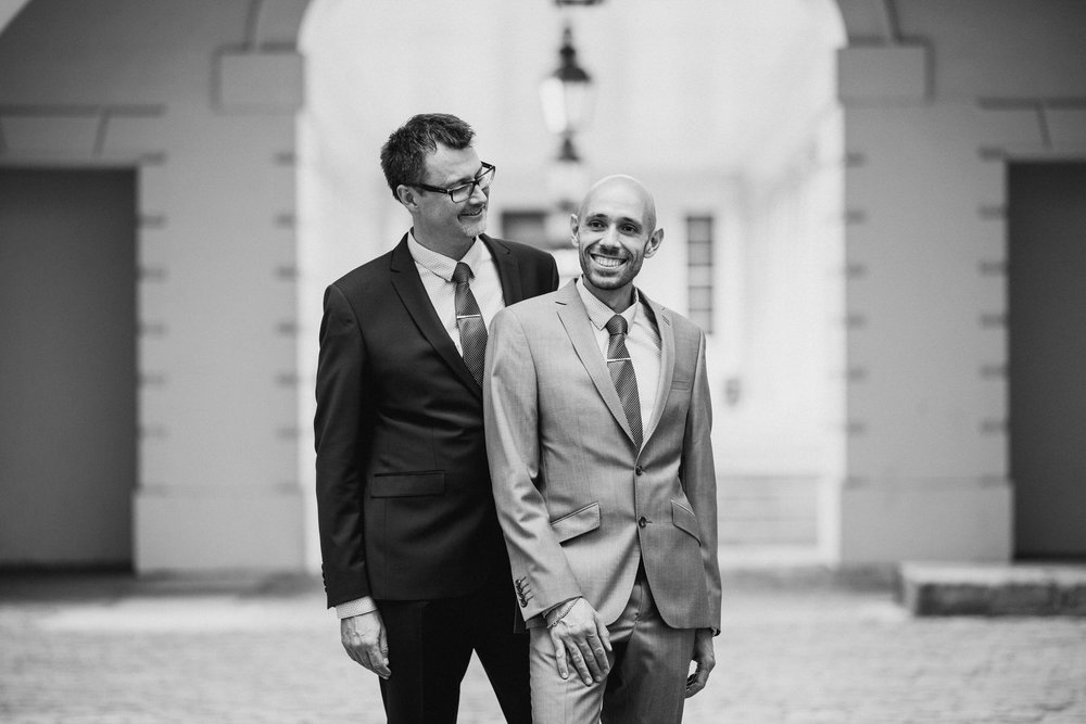 handsome two grooms wedding day couple portraits.jpg