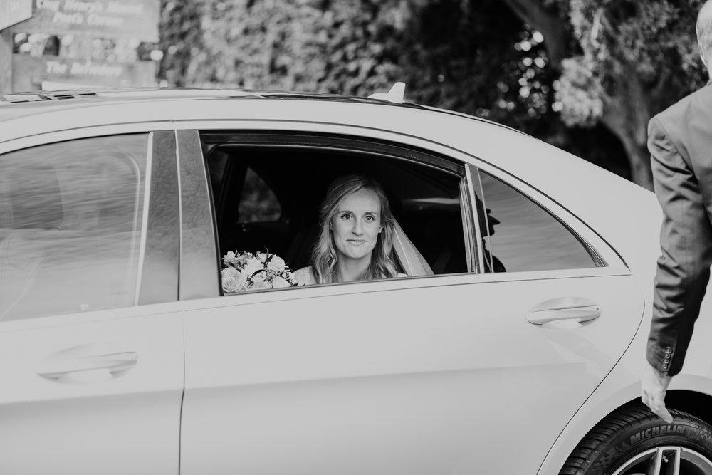 20 bride arrives at Pembroke Lodge BW.jpg