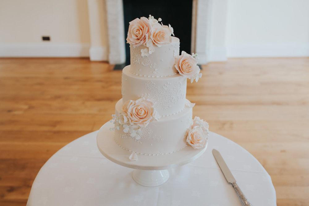 356-blush wedding cake cutting Richmond photographer.jpg