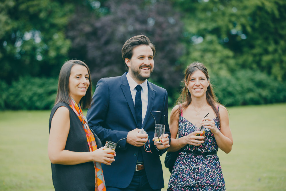 241 Surrey wedding reception drinks guest candid reportage.jpg