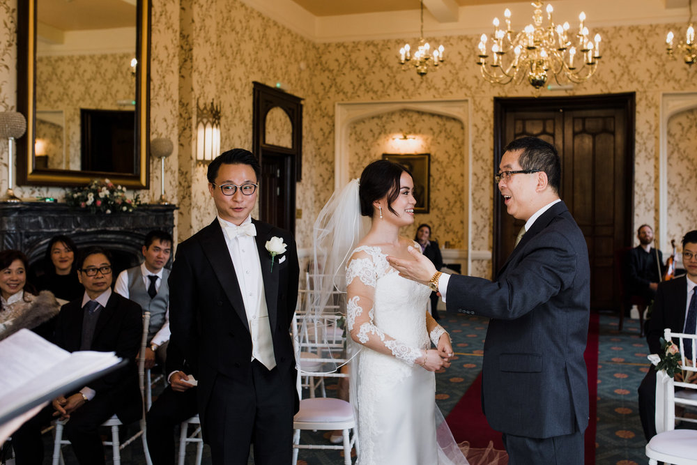Rowton castle wedding quirky Chinese couple ceremony.jpg