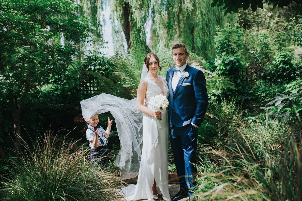 The Bingham wedding Richmond reportage couple portraits veil shot.jpg
