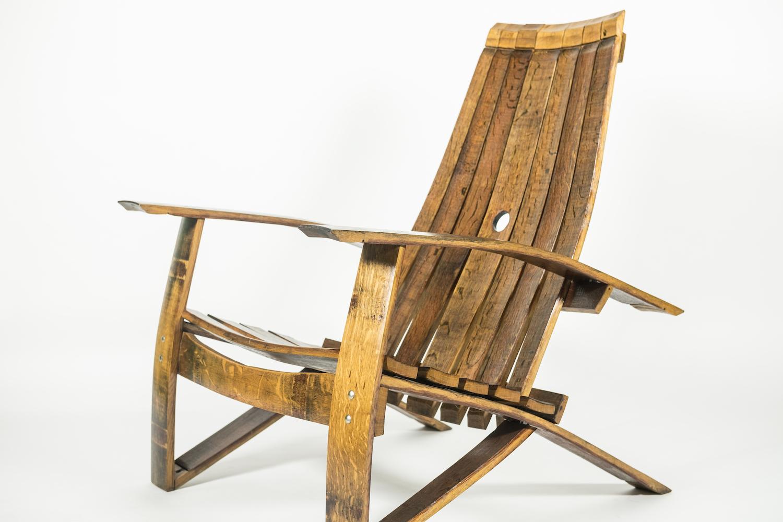 Wine Barrel Adirondack Chair ...