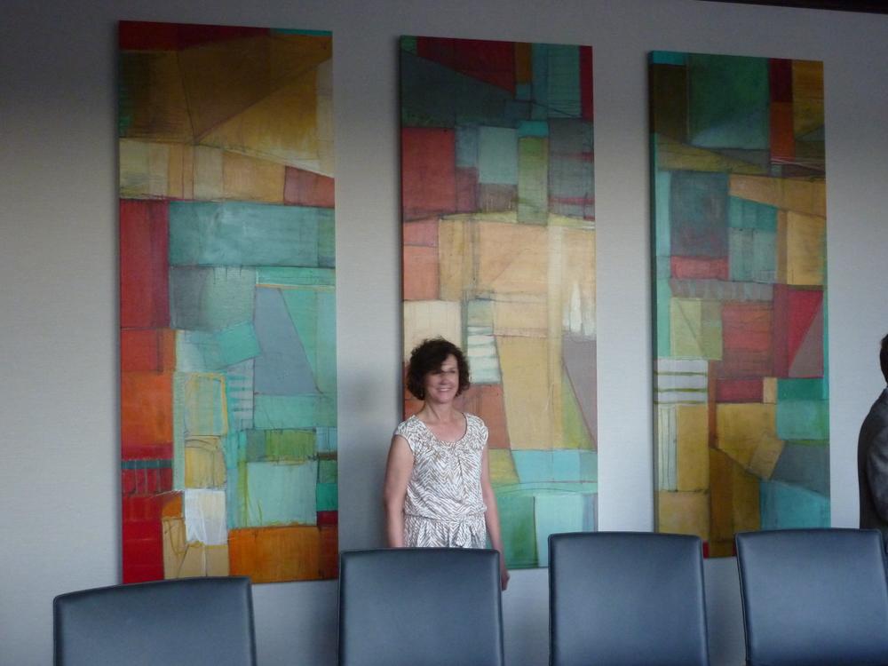 Pieces in bank boardroom