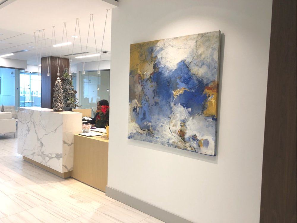 Earth and Sky in corporate entrance