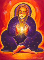 Dream Weaver - Receive $10 off this printUse code: Moon10Dream Weaver by Katherine Skaggs is the magic and mystery of the Divine Feminine Alchemist, the true Creatrix, the magical visionary. Dream Weaver invites us to focus our attention on the light and to create from that very centered, intention-filled space.