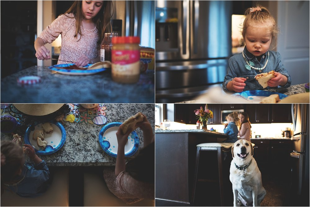 karra lynn lifestyle newborn photographer - making lunch