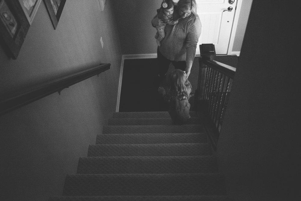 karra lynn lifestyle newborn photographer - stairs