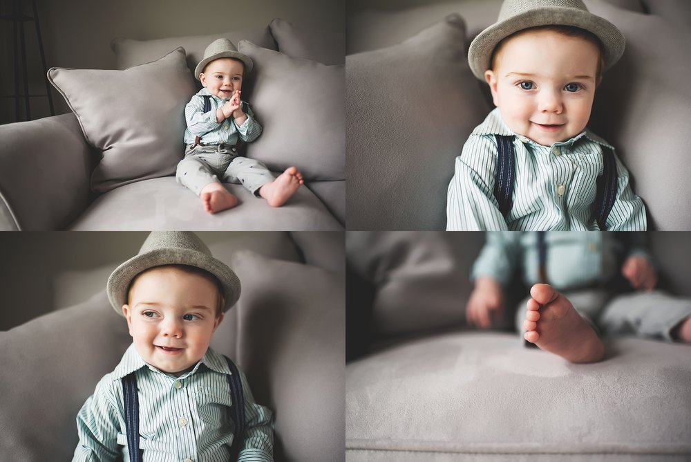 karra lynn lifestyle newborn photographer - one year old collage with hat