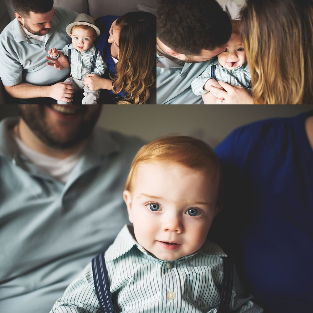 karra lynn lifestyle newborn photographer - one year old with parents