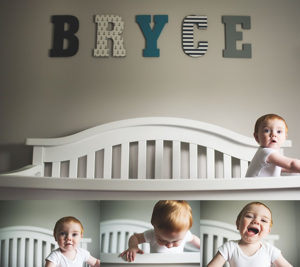 karra lynn lifestyle newborn photographer - one year old crib