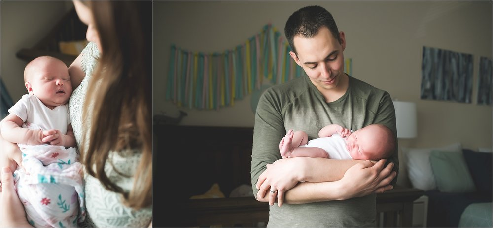karra lynn photography - lifestyle newborn photographer - parents and baby