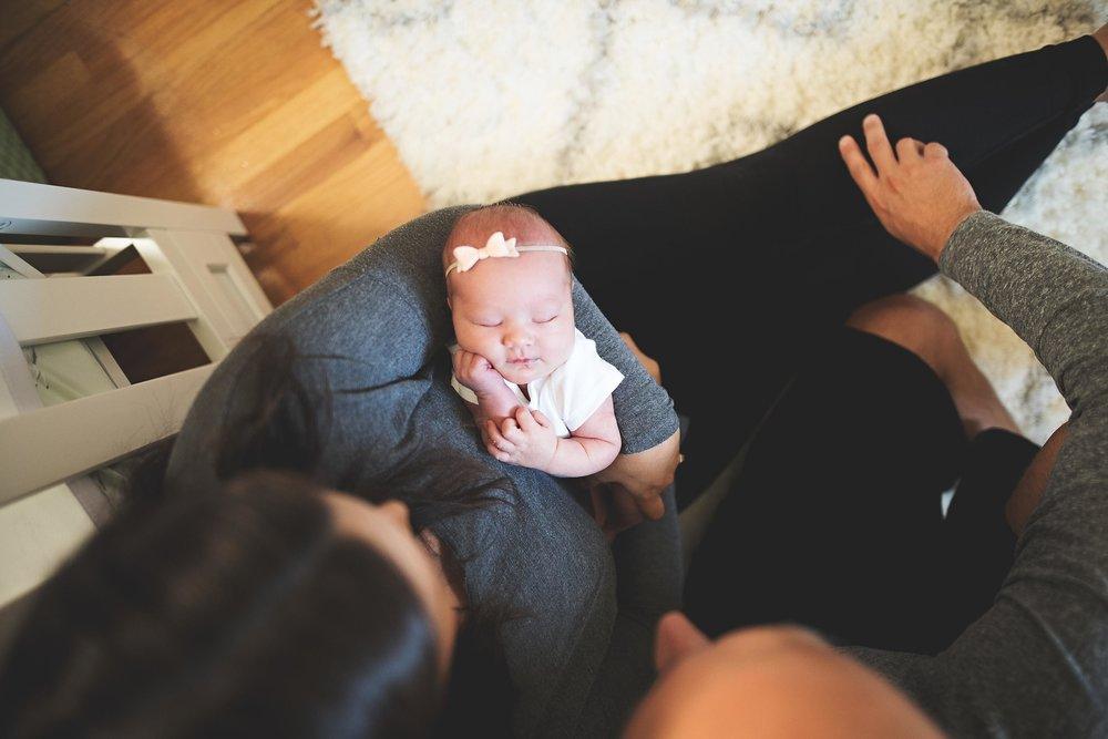 karra lynn photography - at home newborn lifestyle - michigan - nursery overhead