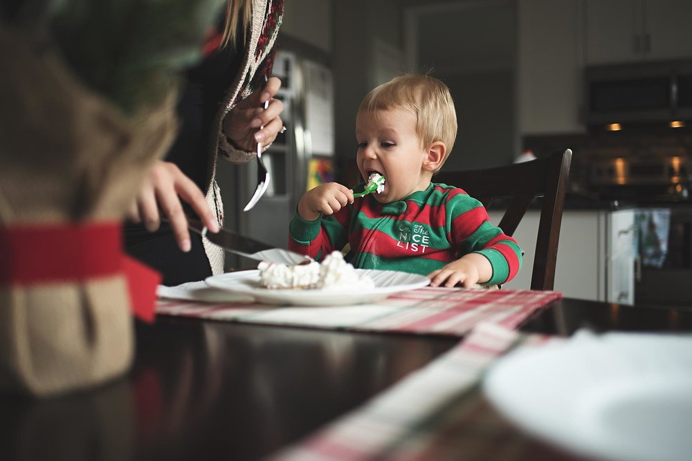at home lifestyle photography michigan - child eating