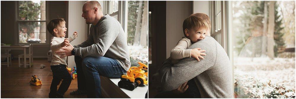 karra lynn photography - newborn photographer northville mi - big brother and dad