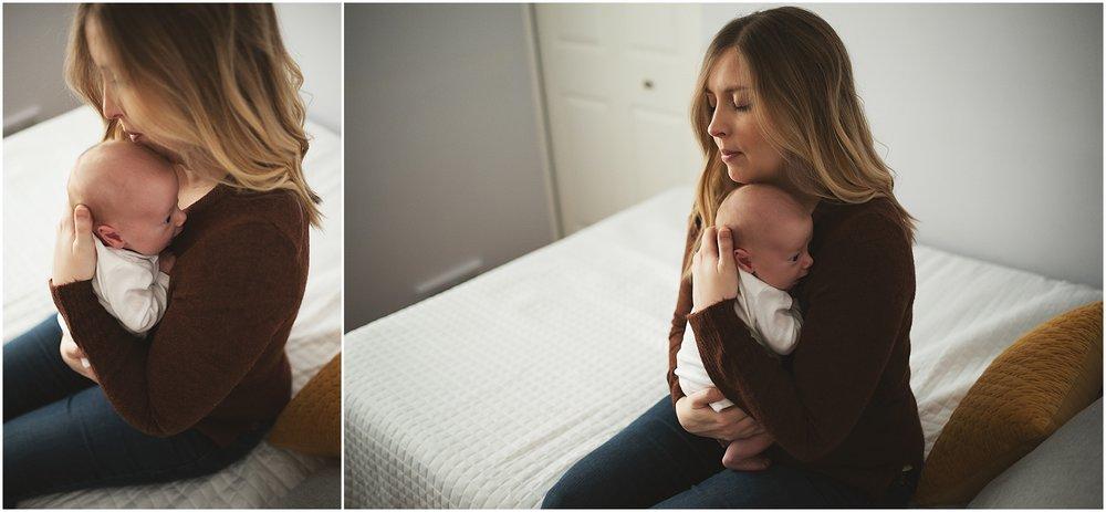 karra lynn photography - newborn photographer northville mi - mom and newborn