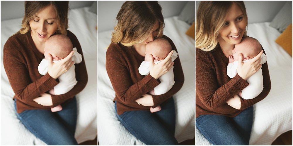 karra lynn photography - newborn photographer northville mi - mom soothing newborn