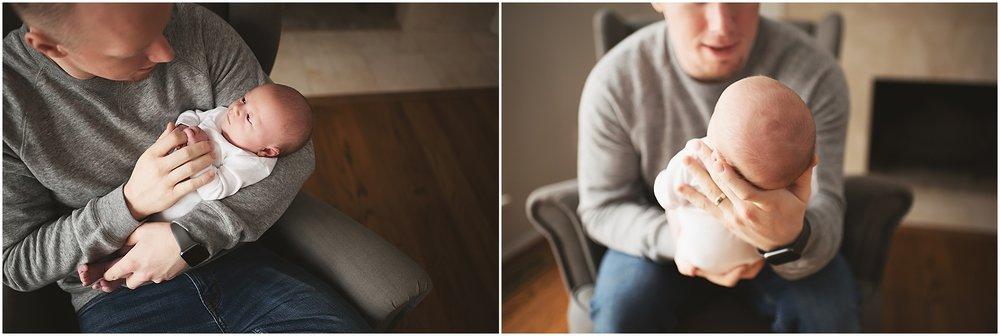 karra lynn photography - newborn photographer northville mi - newborn and dad