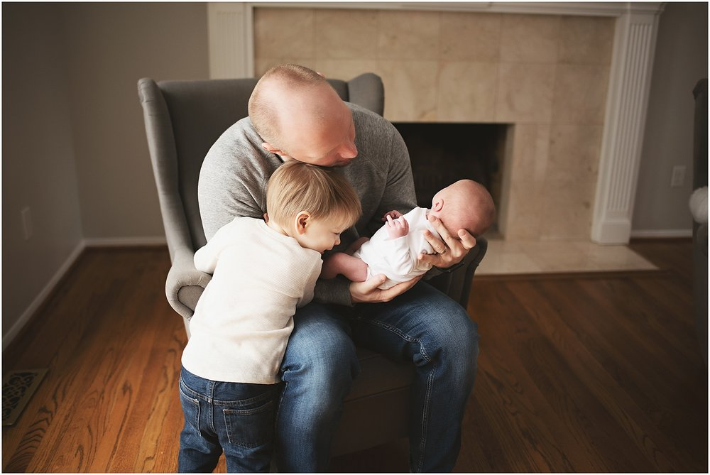 karra lynn photography - newborn photographer northville mi - dad and kids