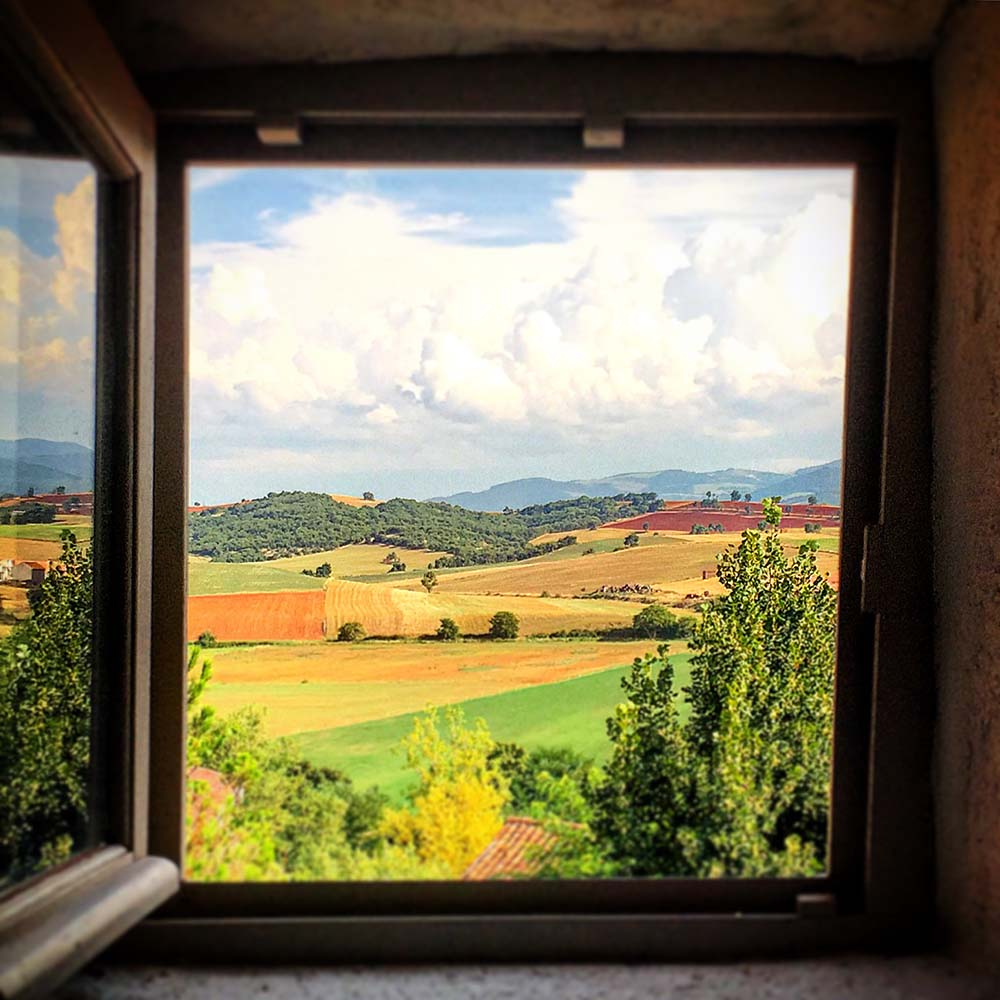 The view from our bedroom, which is so picture perfect it looks like a painting.