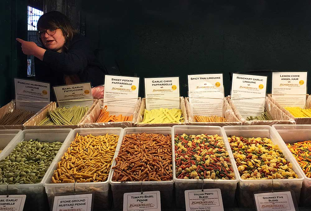 The Pappardelle's Pasta stand at Pike Place Market.