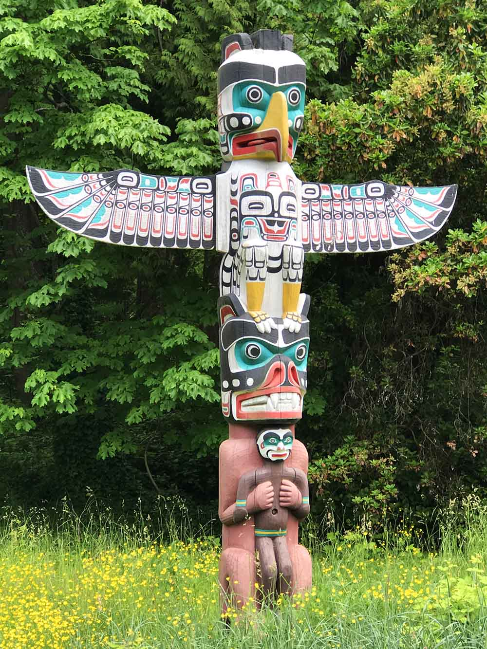 One of the magnificent First Nations' Totem Polls in Vancouver's Stanley Park.