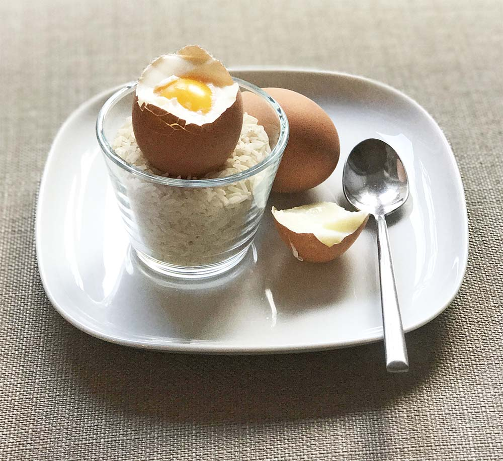 Makeshift eggcups!