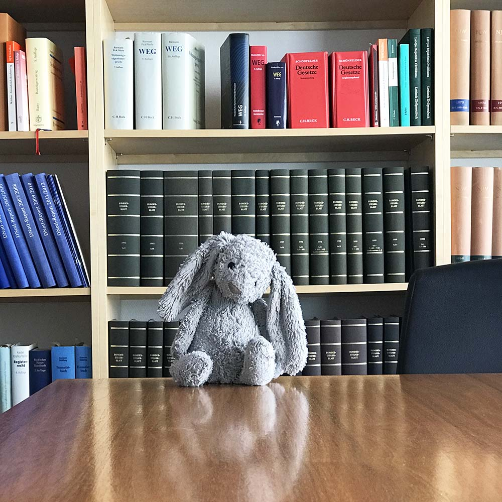 Dirty Bunny at the notary's office.