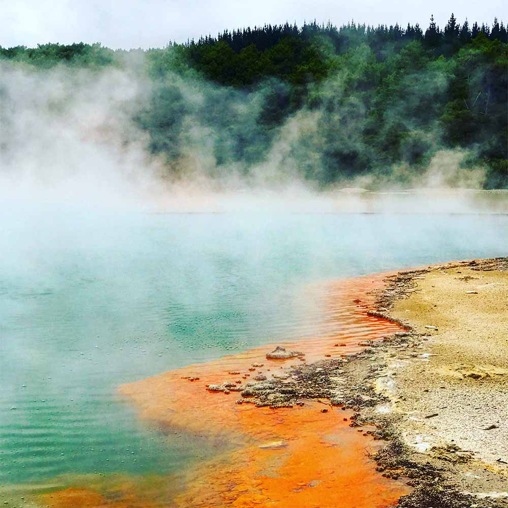 This amazing area is known as the Champagne Pool.