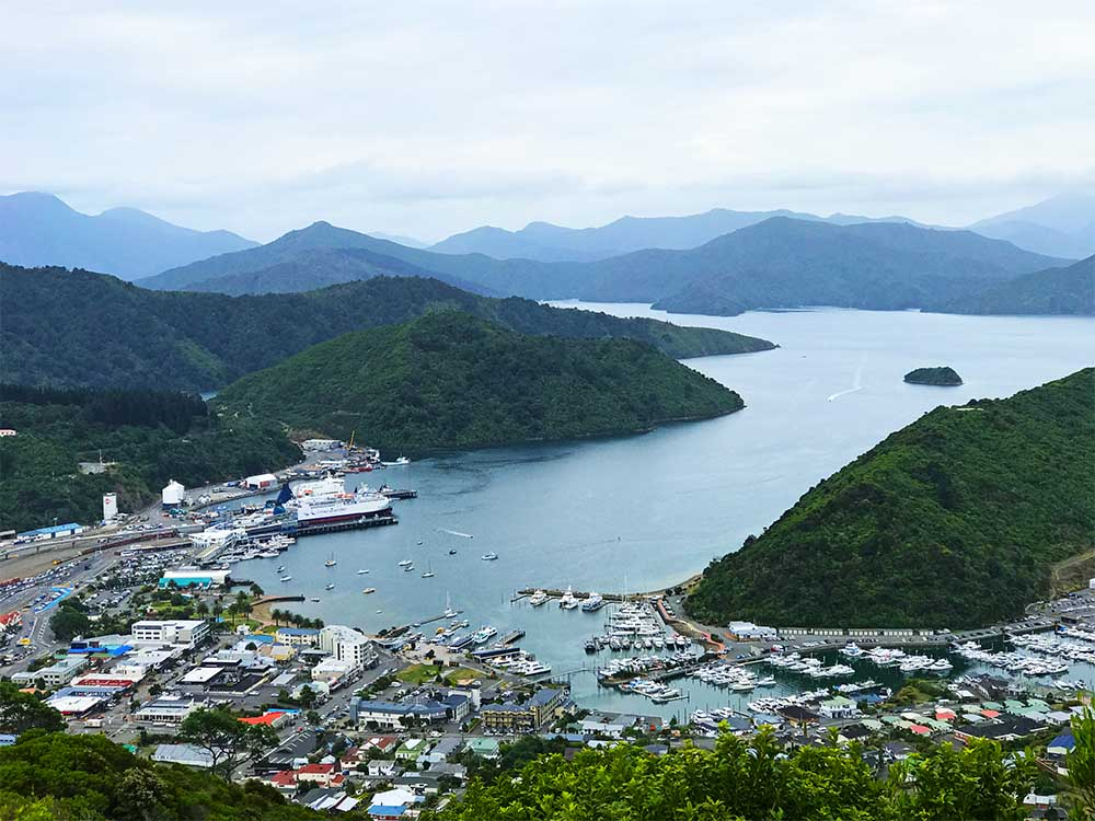 A view of Picton and the Marlborough Sounds.