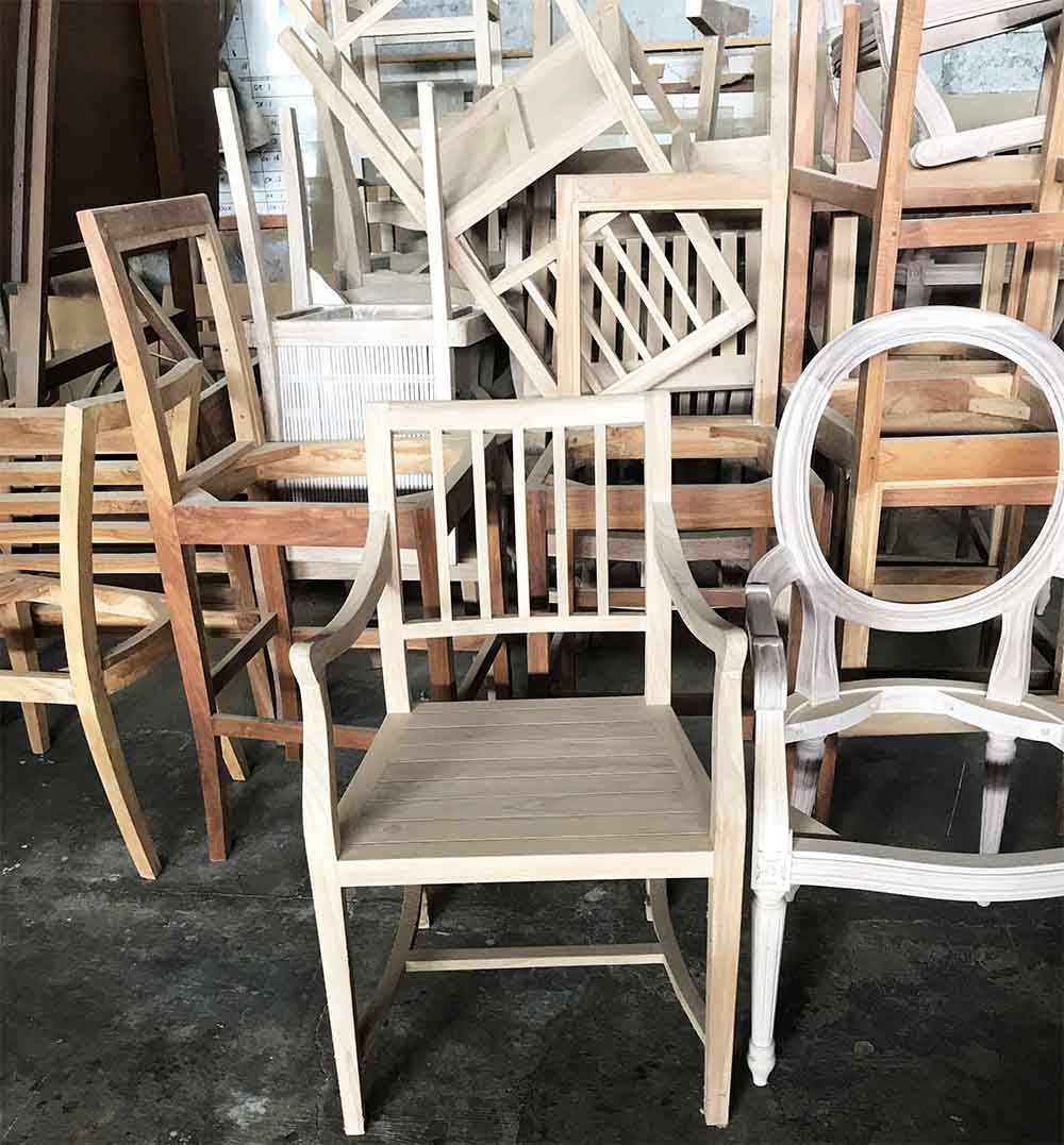 Custom chairs in a variety of different styles.