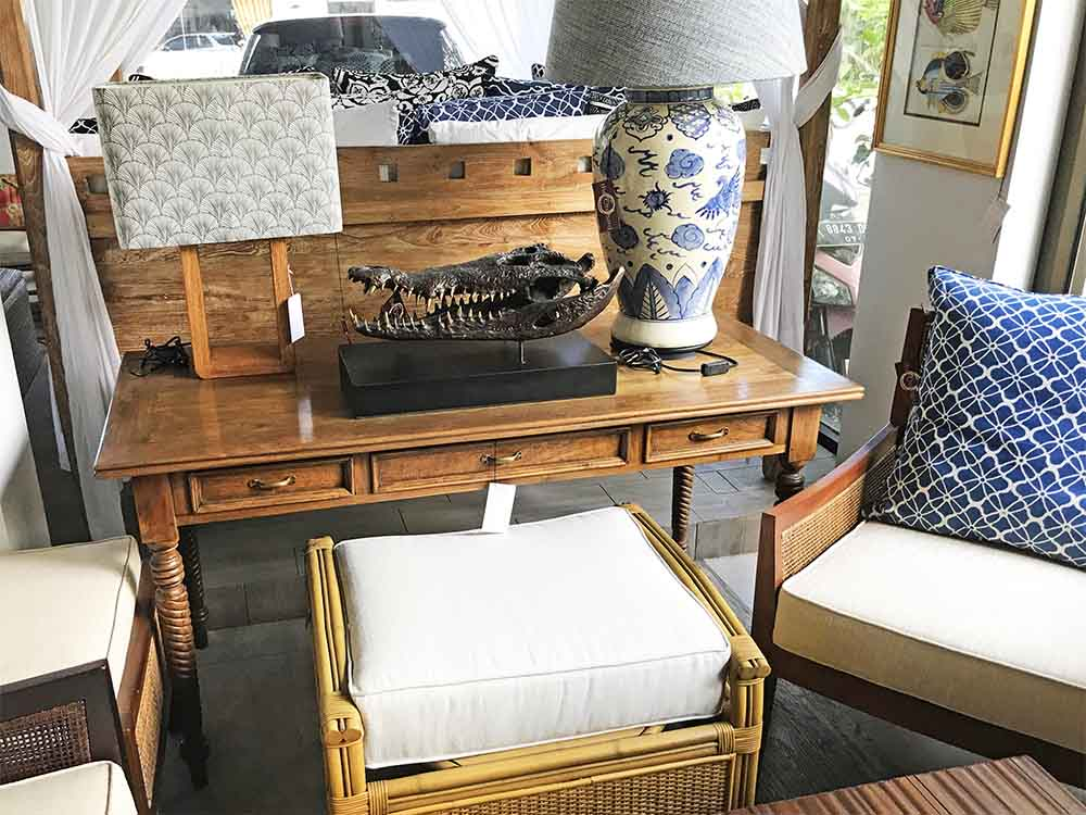 A beautiful colonial-style desk.
