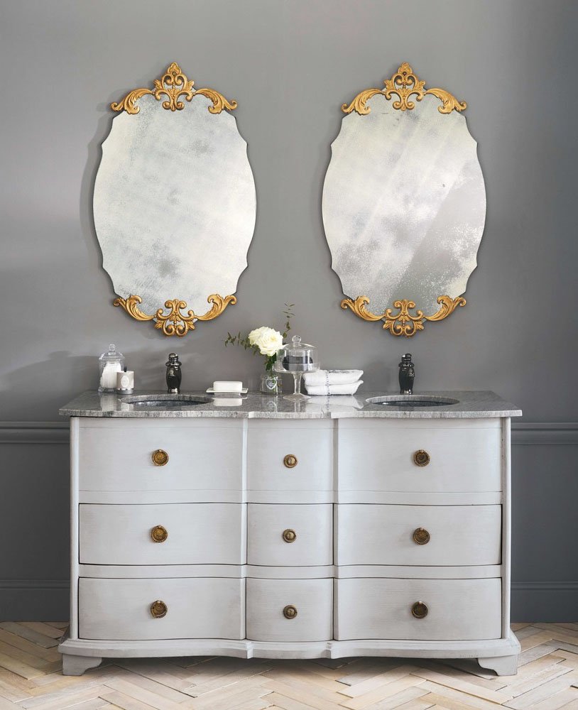 I love  this freestanding double vanity .